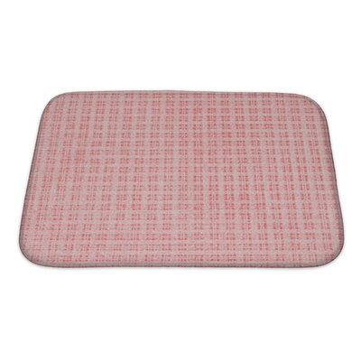 Gecko Plaid Bath Rug Size: Small