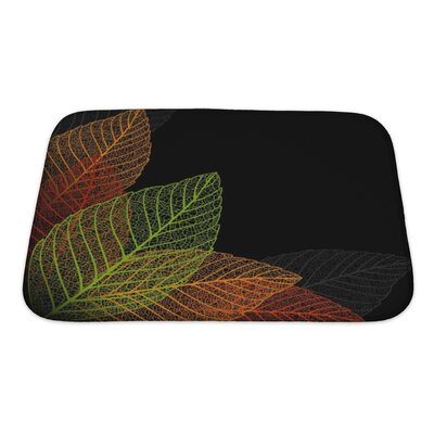 Leaves Skeleton Leaf Bath Rug Size: Small