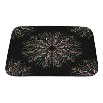 Slide Abstract Flower Pattern Bath Rug Size: Small