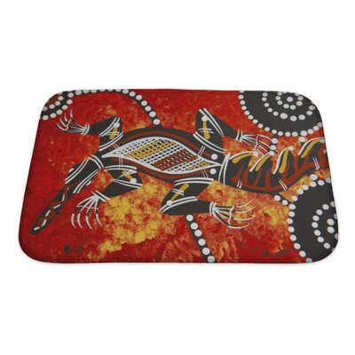 Animals Austarlian Aboriginal Style Bath Rug Size: Small