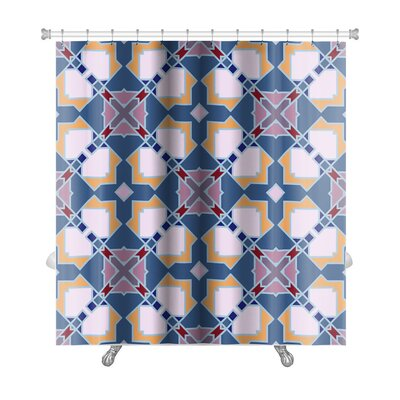 Delt Islamic Wallpaper Arabic Colorful Geometric Premium Shower Curtain