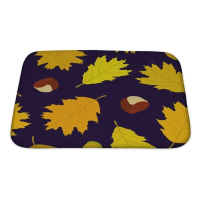 Leaves of Canadian Oaks Leaves, Acorns and Chestnuts Bath Rug Size: Small