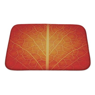 Leaves Creative with Leaf Pattern Drawn Manually Bath Rug Size: Small