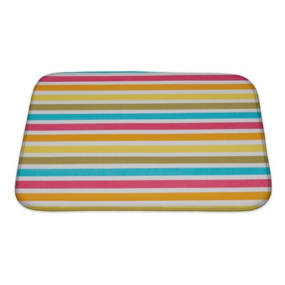 Picnic Close Up of Striped Colour Bath Rug Size: Small