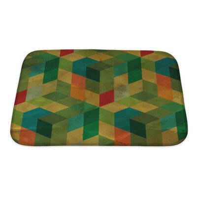 Delta Vintage Geometric Bath Rug Size: Small, Color: Green