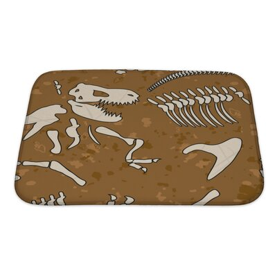 Dinosaurs Fossil Bath Rug Size: Small