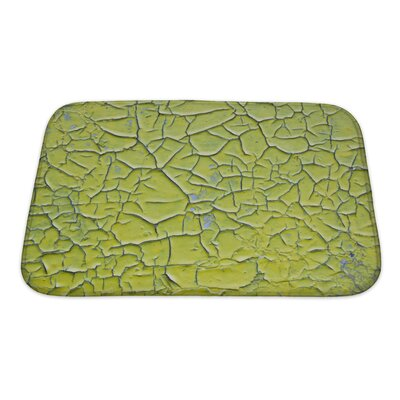 Wood Surface Covered with Cracked Paint Bath Rug Size: Small