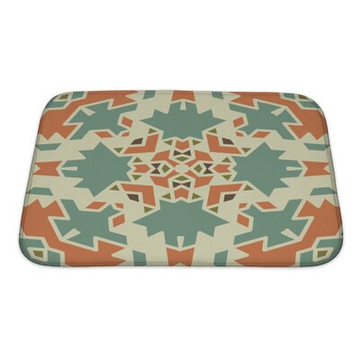 Creek Colorful Geometrical Ornament Tiles Bath Rug Size: Small