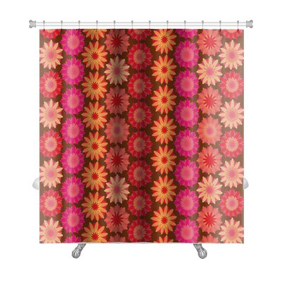 Kilo Crochet Floral Pattern Premium Shower Curtain