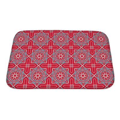 Simple Ethnic Pattern Abstract Kaleidoscope Bath Rug Size: Small