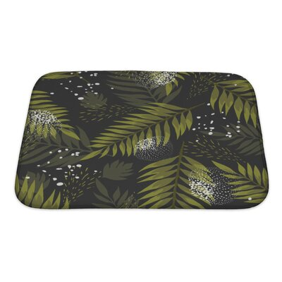Leaves Leaf Palm Bath Rug Size: Small