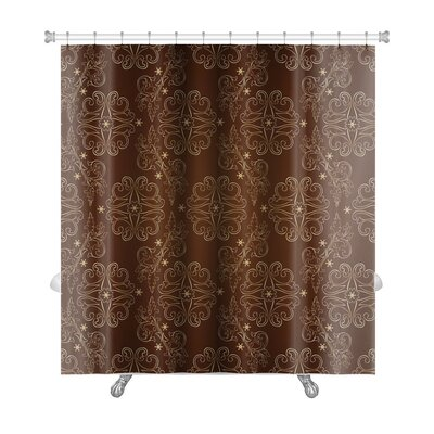 Cappa Floral Vintage Pattern Premium Shower Curtain