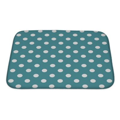 Beta Polka Dots on Ocean Bath Rug Size: Small