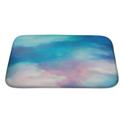 Art Touch Dramatic Sky Digital Watercolor Painting Bath Rug Size: Large