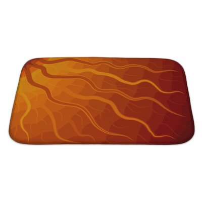 Bravo Abstract of Sun with Wavy Rays Tone Bath Rug Size: Large