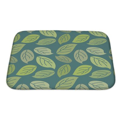 Leaves Vintage Pattern for Leaves Retro Ornament Bath Rug Size: Small