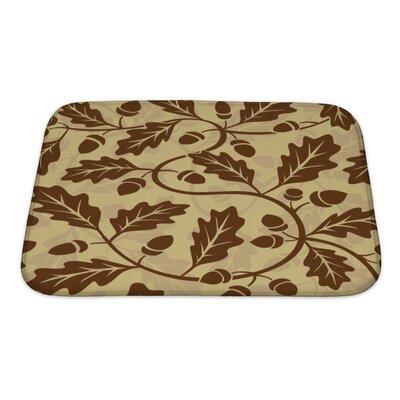Leaves Leaf Acorn Pattern Bath Rug Size: Small