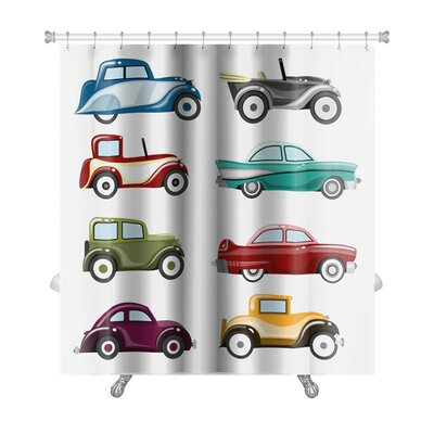 Cars Old Cars Set Premium Shower Curtain