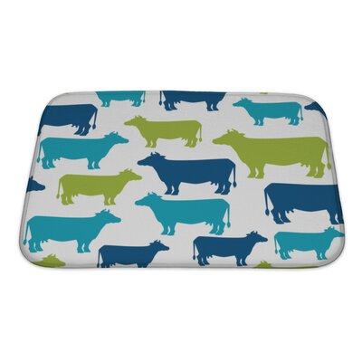 Animals Cow Silhouette Pattern Bath Rug Size: Small