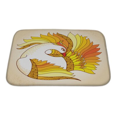 Birds Mythological Firebird Bath Rug Size: Small