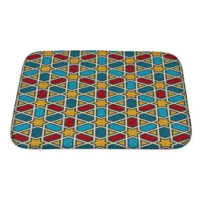 Kilo Moroccan Geometric Pattern Bath Rug Size: Small
