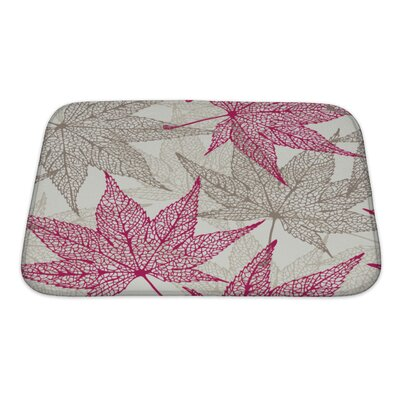 Leaves Maple Leaves, Autumn Leaf Pattern Bath Rug Size: Small