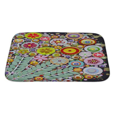 Art Touch Vibrant Spring Bouquet Full of Wild Colorful Flowers Bath Rug Size: Large
