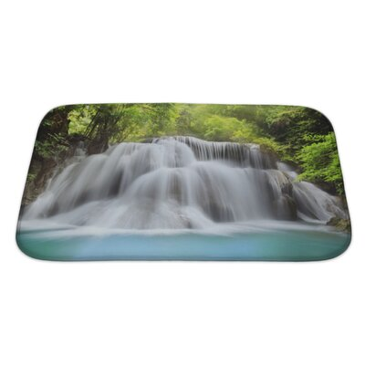 Landscapes Level 3 of Huai Mae Kamin Waterfall in Kanchanaburi Province, Thailand Bath Rug Size: Large