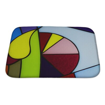 Art Hard Colorful Glass Bath Rug Size: Small