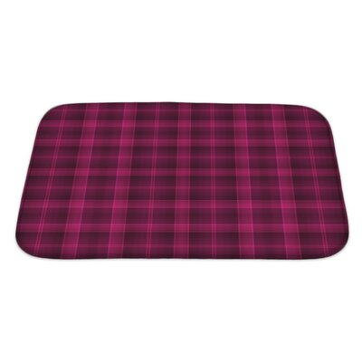Beta Bold Tartan Plaid and Deep Raspberry Bath Rug Size: Large