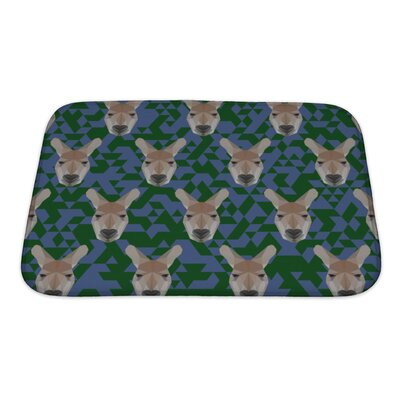 Animals Polygonal Kangaroo Bath Rug Size: Small