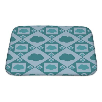 Alpha Cute Cloud Pattern Bath Rug Size: Small