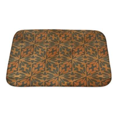 Gamma Vintage Pattern Geometric Bath Rug Size: Small
