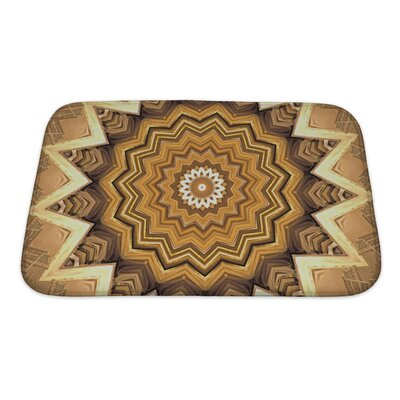 Primo Abstract Kaleidoscope Bath Rug Size: Small
