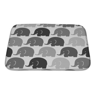 Animals Elephants Bath Rug Size: Small
