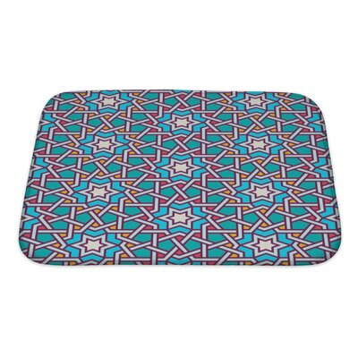 Slide Tangled Modern Pattern Bath Rug Size: Small