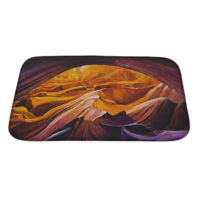 Landscapes Canyon Inside a Cave Bath Rug Size: Large