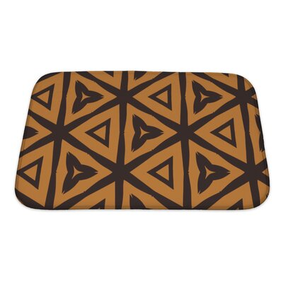 Creek Abstract Based on Tiger Natural Pattern Bath Rug Size: Small