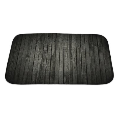Wood Dark Wood Bath Rug Size: Large