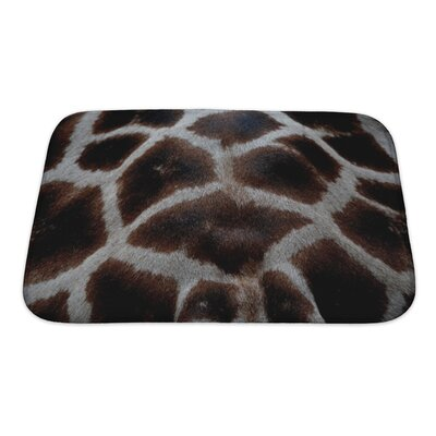 Animals Skin of Giraffe Bath Rug Size: Small