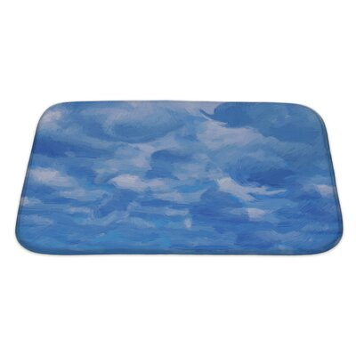 Nature Sky and Clouds in Experssionism Oil Painting Style Bath Rug Size: Large