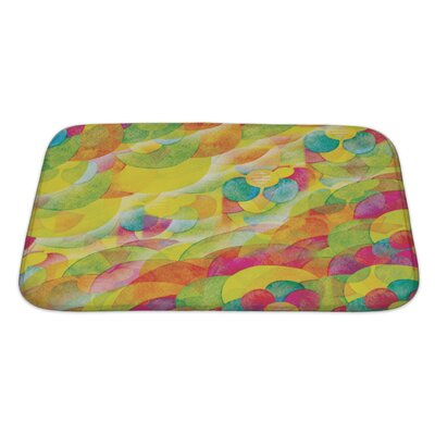 Kilo Floral Watercolor Abstract Bath Rug Size: Large