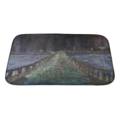Art Alpha Night Rain in the Sea Resort Town Palanga Bath Rug Size: Large