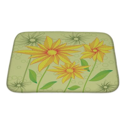 Flowers Abstract Flowers Bath Rug Size: Small