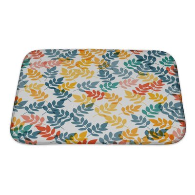 Gecko Leaf Pattern Bath Rug Size: Small