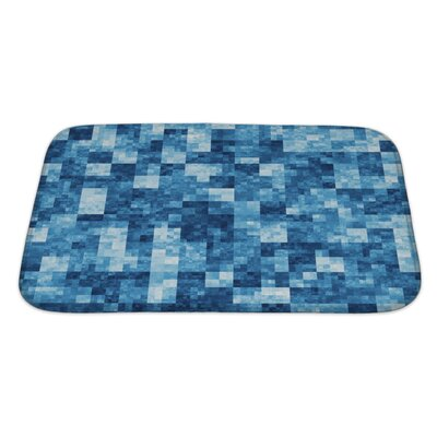 Gecko Checkered Bath Rug Size: Large