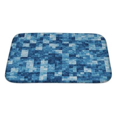 Gecko Checkered Bath Rug Size: Large