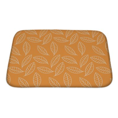 Slide Stylized Leaf Bath Rug Size: Small
