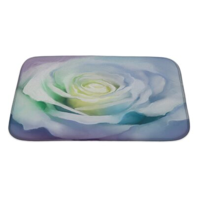 Flowers Close Up of Rose Petals Bath Rug Size: Large