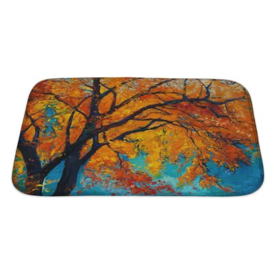 Nature Beautiful Autumn Tree Bath Rug Size: Large